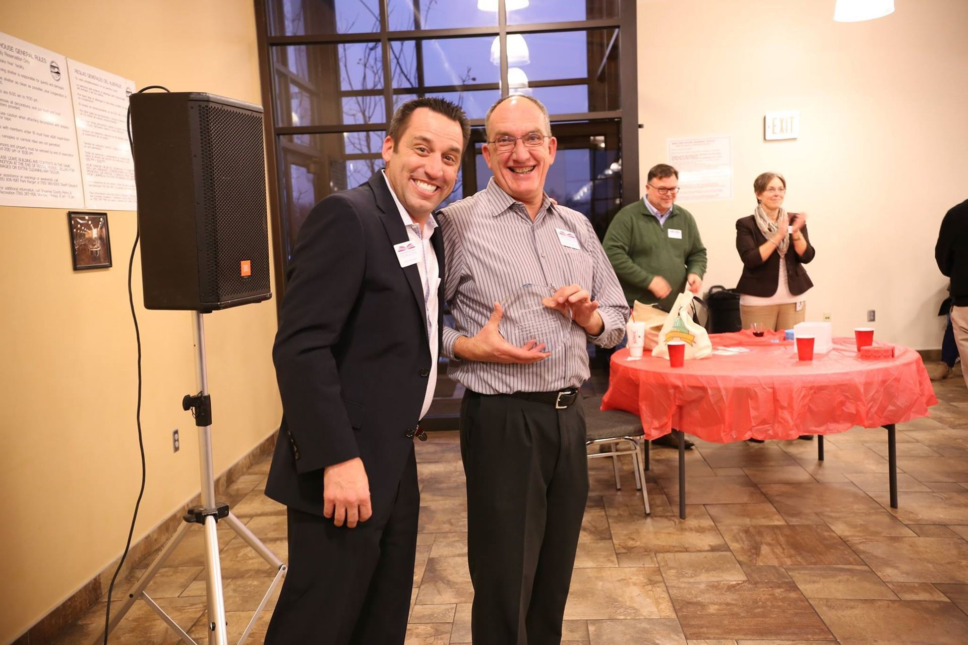 Rod Spangler and Bruce Krueger at the Winter Mixer.
